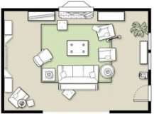 Furniture Placement in A Large Room   Furniture placement and
