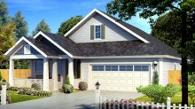 Floor Plan AFLFPW75875 - 1 Story Narrow Lot Home